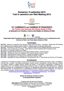 Il Cammino di Francesco passa per il Meeting di Rieti 2015